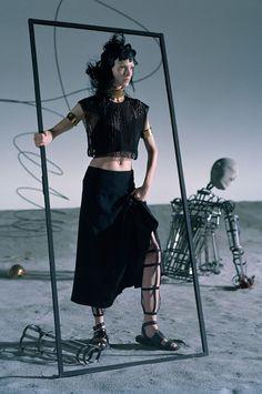 """Like a Warrior"" Mariacarla Boscono by Tim Walker for Vogue Italia March 2014"