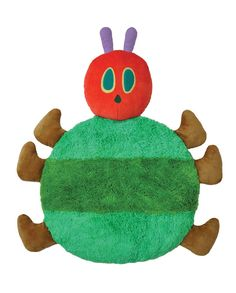 Plush Playmat by Kids Preferred- The Very Hungry Caterpillar Plush Playmat offers thirty-eight inches of warm and fuzzy fun. Eric Carle's most beloved The Very Hungry Caterpillar will introduce tummy time to a newborn, and calming comfort to him or her as they grow into toddlers. Hand washable, this super plush mat with soft caterpillar pillow head, round green furry body, and six brown pillow legs comes in its own tote for easy storage .