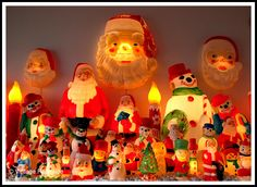 A wonderful display of vintage light-up Christmas decorations on display at Newspace in Portland, Oregon.