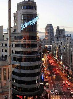 Madrid desde la cafetería del Corte Inglés en Callao