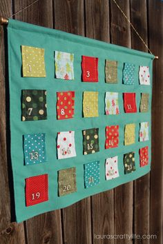 DIY fabric advent calendar + link to free advent activity list