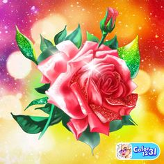 Color By Numbers, Wallpaper, Flowers, Plants, Image, Art, Digital, Roses, Manualidades