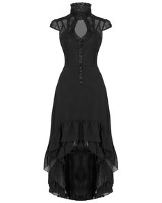 Voodoo Vixen Long Black Rose Steampunk VTG Victorian Gothic Juliet Dress Gown #VoodooVixen #Goth #Casual