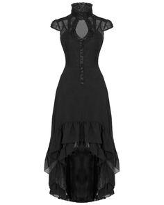 Voodoo Vixen Long Black Rose Steampunk VTG Victorian Gothic Juliet Dress Gown #VoodooVixen #Goth #Casual