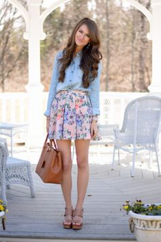 Photo from Southern Curls & Pearls | Chambray & Florals