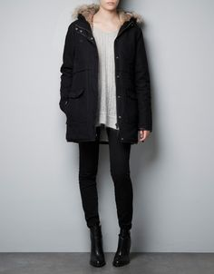 COTTON PARKA WITH LINING - Jackets - TRF - ZARA