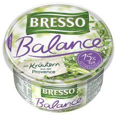 Bresso Produkt packshot Frischkäse Becher Balance Kräuter der Provence