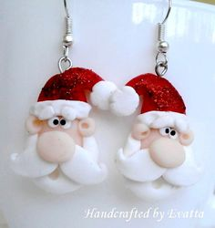 Check out this item in my Etsy shop https://www.etsy.com/listing/256584649/santa-claus-earrings