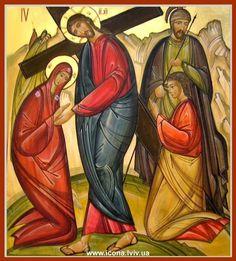 Crucifixion Religious Paintings, Religious Art, Christian Quotes About Life, Byzantine Icons, Holy Week, Orthodox Icons, Sacred Art, Ikon, Artwork
