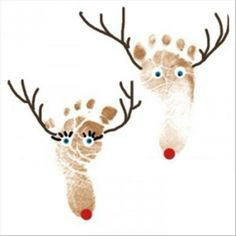 Preschool Crafts for Kids*: Christmas Reindeer Footprint Craft. Putting these on plates for Christmas would be cute! Kids Crafts, Christmas Crafts For Toddlers, Christmas Activities, Baby Crafts, Toddler Crafts, Preschool Crafts, Holiday Crafts, Holiday Fun, Preschool Christmas