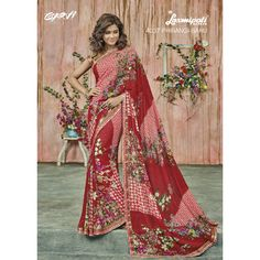 This season your look gets better definition with just a little attention to detail. Look stunningly beautiful in this multi colour georgette designer saree. Beautified and stylized with patch border . Lehenga Saree, Georgette Sarees, Indian Designer Sarees, Yellow Fashion, Party Wear Sarees, Saree Wedding, Casual Wear, Kimono Top, How To Wear