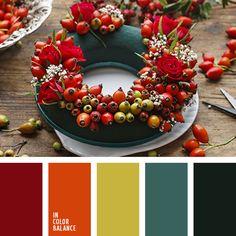 апельсиновый, зеленый, красный, мандариновый цвет, оливковый, оранжевый, оттенки зеленого, подбор цвета в интерьере, тёмно-зелёный, цвет красного мака, цвет мака, цвета красного мака, яркий оранжевый.