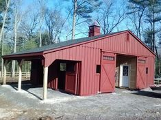 Modular Horse Barn - Low Profile Trailside Modular Horse Barn - 30 x 24