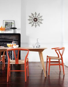 Wishbone Chairs   Designed by Hans J. Wegner: Your wish is my command.