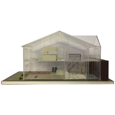 1970s Lucite Architectural Modern Home Model