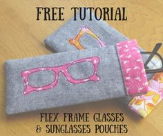 Flex Frame Sunglasses Case Tutorial - Just Jude Designs - Quilting, Patchwork & Sewing patterns and classes The Effective Pictures We Offer You About Frame Crafts cross A quality picture can tell you Sewing Hacks, Sewing Tutorials, Sewing Crafts, Sewing Tips, Tutorial Sewing, Bag Tutorials, Pouch Tutorial, Quilting Tutorials, Sewing Ideas
