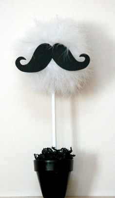 Mustache centerpiece and party decoration, choice of one, available in a variety of colors and combinations via Etsy. Moustache Party, Mustache Theme, Mustache Birthday, Lego Birthday, Little Man Shower, Little Man Party, Little Man Birthday, Mustache Centerpieces, Diy Mustache Decorations