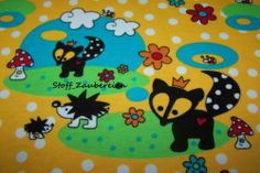 BIO Interlock Little FOX Punkte Käfer Fuchs Blumen Herz Pilz Stoff Janeas World
