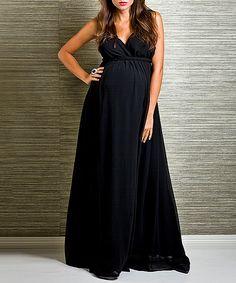 Black Belucci Maternity Maxi Dress