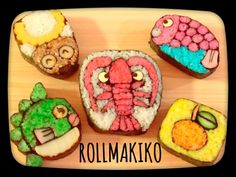 Sushi Art, Sushi Sushi, Sushi For Kids, Japanese Food Art, Asian Recipes, Asian Foods, Muffin Tin Recipes, Chocolate Sculptures, Taiwanese Cuisine
