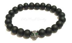 Black Panther Beaded Bracelet Men Boys Unisex