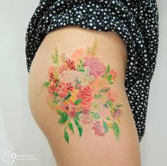 Estas Tatuagens Se Parecem Com Pinturas De Aquarela Feitas Na Pele