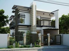 Sophisticate Modern Double Storey House Design
