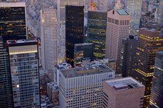 New York from the Rockefeller center