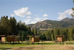 Designed by Olson Kundig Architects, the Rolling Huts are glamping on a different, design-forward level from the architecture to the minimalist interiors.