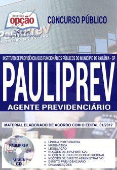 Nova -  Apostila Concurso PAULIPREV 2018 - AGENTE PREVIDENCIÁRIO  #apostilas