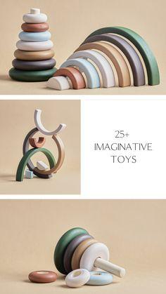 Set of 2 wooden stacking toy Montessori baby Waldorf toys Woodland nursery decor Baby shower gift Baby Girl Toys, Baby Girls, Baby Boy Rooms, Wooden Baby Toys, Wood Toys, Diy Sensory Board, Imagination Toys, Woodland Nursery Decor, Boho Nursery
