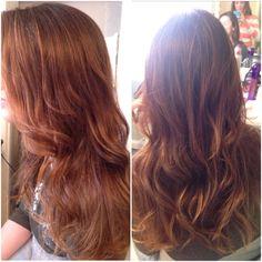 Wavy curled hair