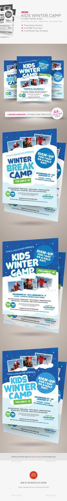 Kids Winter Camp Flyer Templates PSD