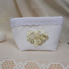 Looking for sewing project inspiration? Check out Linen Cosmetic Bag by member Jayne . - via @Craftsy