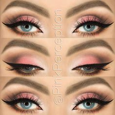 Pink Smokey Eye Look for Blue Eyes