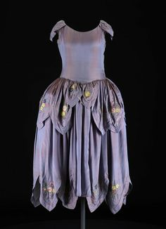 c.1924, Robe de style. Silk, metallic thread. Jeanne Lanvin, Paris, France.