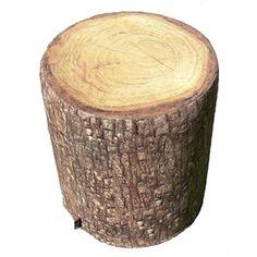 Taburet m/ træ look, fyr, udendørs , Merowings