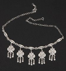 silver filigree owl necklace