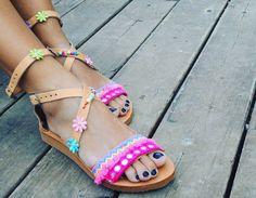 Leather Sandals Gladiator Sandals Boho Sandals by RiRiPoM on Etsy