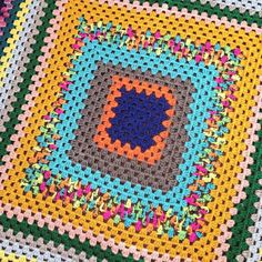 So there is a crochet holiday coming up… Granny Square Day is on August 15th. Which also happens to be the wedding day for my cousin(in-law) and his fiancé. So much to celebrate! #crochet #hooker #grannysquare #scrapghan