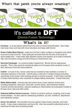 What is that patch? The DFT patch is AMAZING! Visit my website and enroll as a customer or see what others are saying about Thrive!