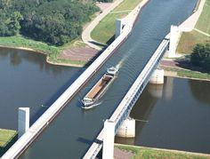 Magdenburg Water Bridge in Germany, Water Bridge over River?