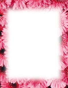 Printable paper with flower border Printable Name Tags, Free Printable Stationery, Printable Flower, Printable Paper, Free Christmas Printables, Christmas Themes, Free Printables, Pink Gerbera, Pink Flowers