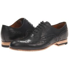 Paul Smith Herbert Only Brogue ($243) ❤ liked on Polyvore featuring shoes, oxfords, men, flats, mens shoes, black, black oxfords, leather flats, black shoes and wingtip oxfords