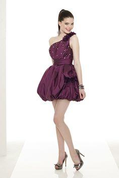 2013 Homecoming Dresses 2013 Cheap Homecoming Dresses Fuchsia Homecoming Dresses One-shoulder Homecoming Dresses