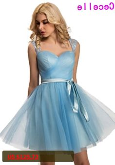 2017 Real Blue Short Bridesmaid Dresses Sweetheart Lace Pleats Sashes Country Informal Cute Wedding Party Gowns Bridesmaid Robes