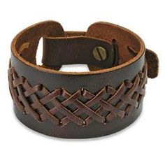@Overstock - This brown leather strap bracelet cuff is adjustable to fit your wrist. The leather strands are intricately interwoven on a thick leather strip which will look even better with age. This bracelet can be worn by itself or with other wrist accessories.http://www.overstock.com/Jewelry-Watches/Brown-Laced-Leather-Strap-Bracelet/5533278/product.html?CID=214117 $16.19