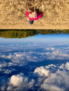 This is REALLY cool!! Portrait Photography Idea..... I see this and think: what about a handstand with a pointed toe, and then post process some gentle water ripples into the sky... could bend a few preceptions.