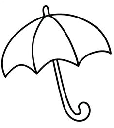 Umbrella Coloring Pages - Best Coloring Pages For Kids Spring Coloring Pages, Animal Coloring Pages, Colouring Pages, Coloring Pages For Kids, Coloring Sheets, Coloring Pictures For Kids, Preschool Coloring Pages, Easy Drawings For Kids, Drawing For Kids