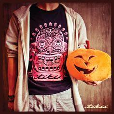 Tikii Brand, Notii Run Way, Tee Shirt Design, Tikii Skull Tee Shirt. #Tikii #NotiiRunWay #TeeShirt #TikiiSkull